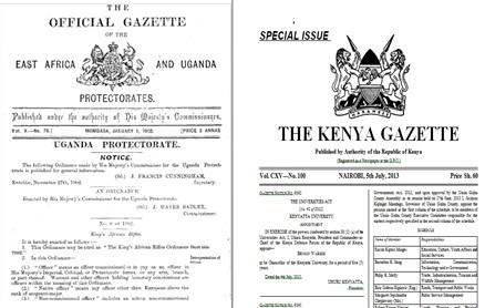 Kenya Gazette Screen Grab