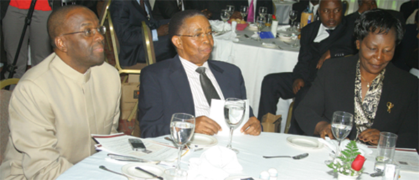 From left to right: The Hon. Dr. Justice W.M. Mutunga, S.C., Chief Justice/President, Supreme Court of Kenya & Chairman of the Board of the National Council for Law Reporting; The Hon (Rtd.) Justice J.E. Gicheru, the immediate former Chief Justice and Chairman; and The Hon. Lady Justice N.M. Baraza, Deputy Chief Justice/Vice President, Supreme Court of Kenya, during a farewell luncheon held in honor of (Rtd.) Justice Gicheru on August 5, 2011.