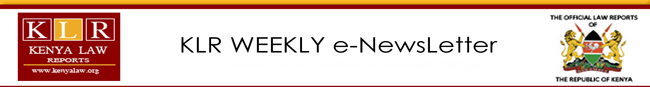 KLR Weekly e-Newsletter
